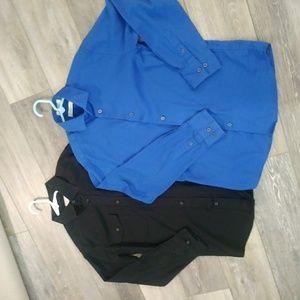 Calvin Klein and Izod boys size 12 dress shirts